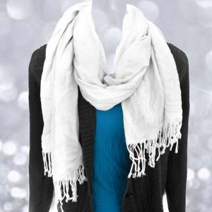 Cream White Blanket Scarf One Size